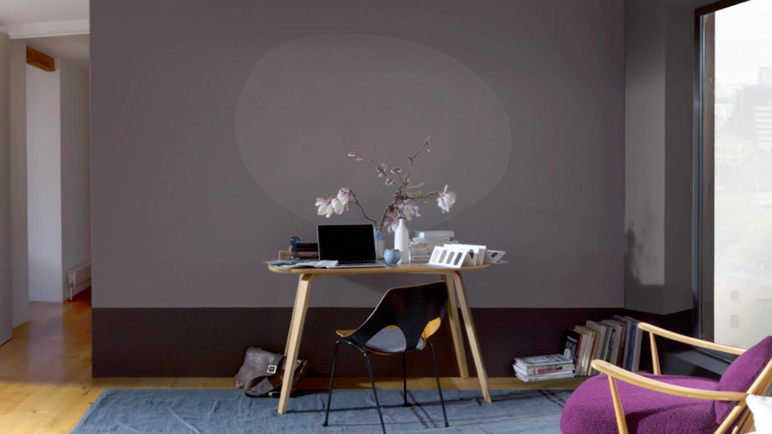A feature wall in an instant with an eye-catching oval design