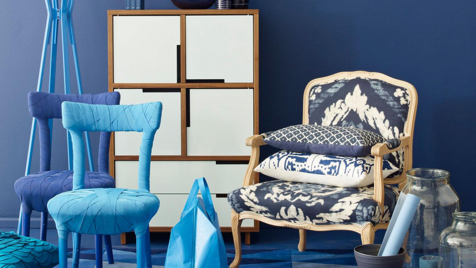 Sapphire blue is said to have many mystical properties. Give your home a rich look with a touch of this dazzling hue.