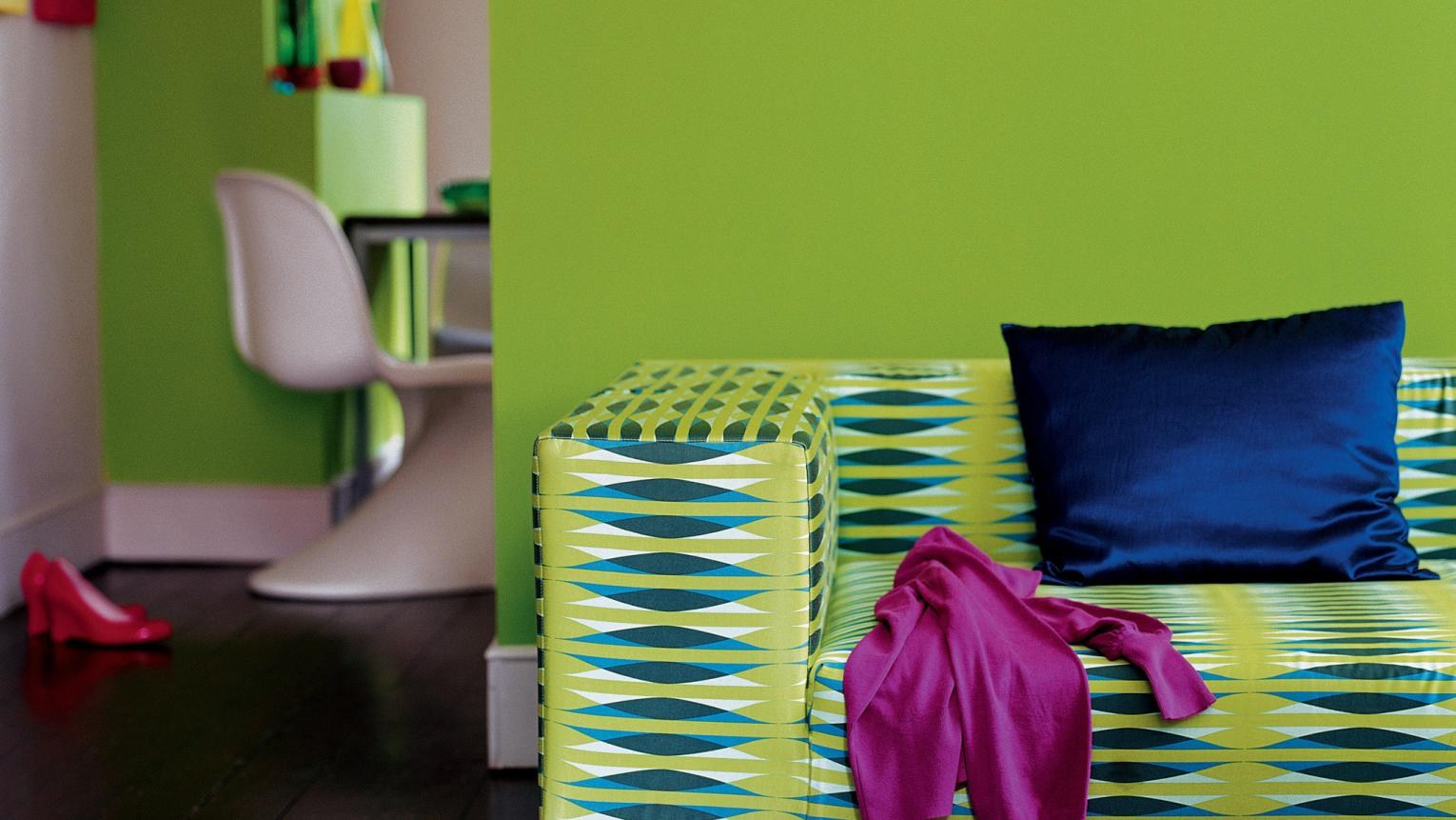 Energise living spaces with lime green