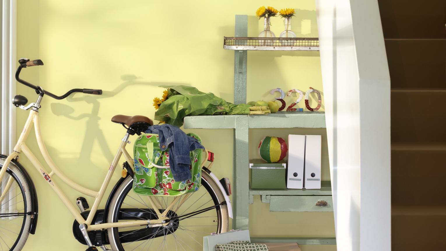 Freshen up a hallway with soft lemon yellow