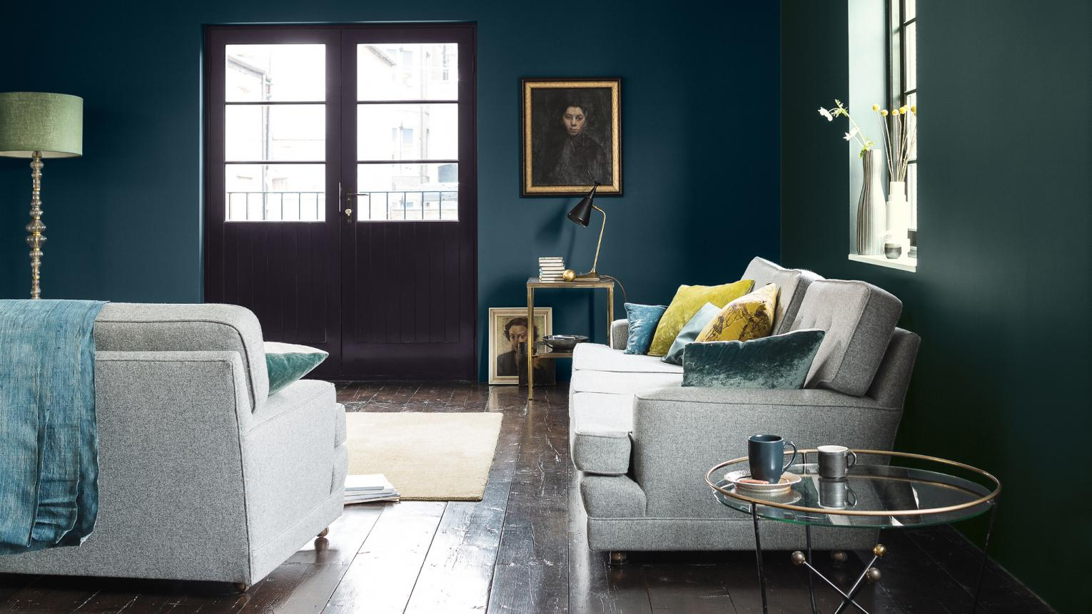 Choosing colours from the darker end of the spectrum is a quick and easy way to add personality to your new home: creating a sophisticated feel minus the designer price tag.