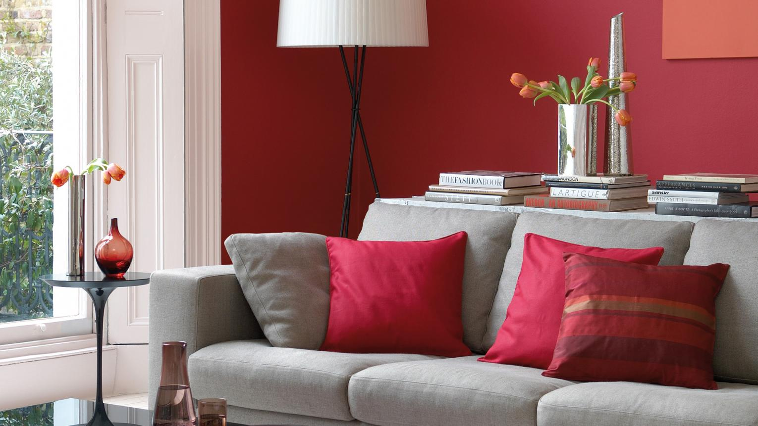 A passionate red with a touch of zingy orange, scarlet is a high-octane hue that adds energy to any interior.