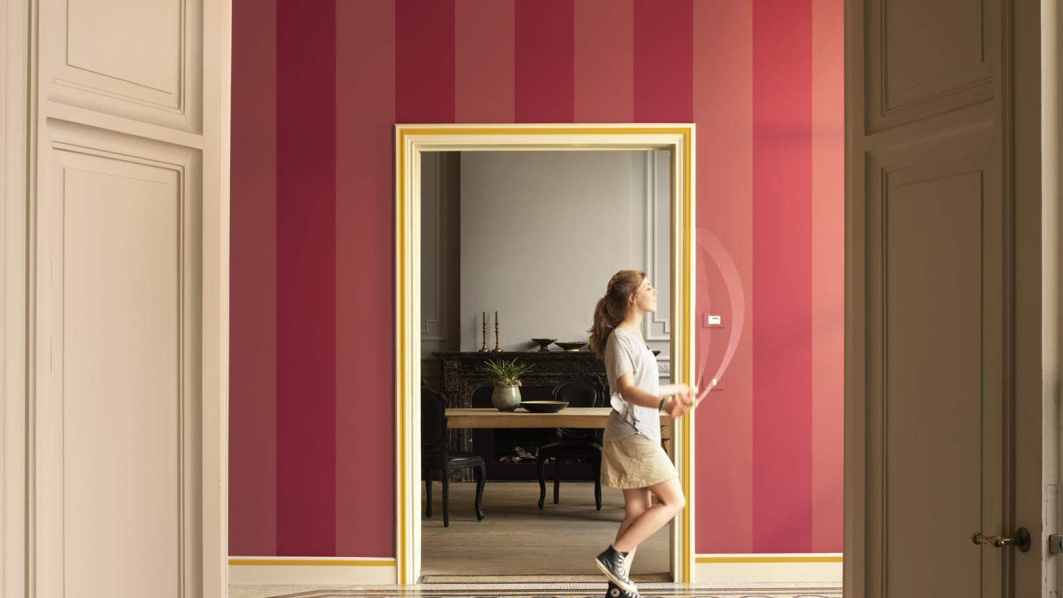 Update a period hallway with bold stripes