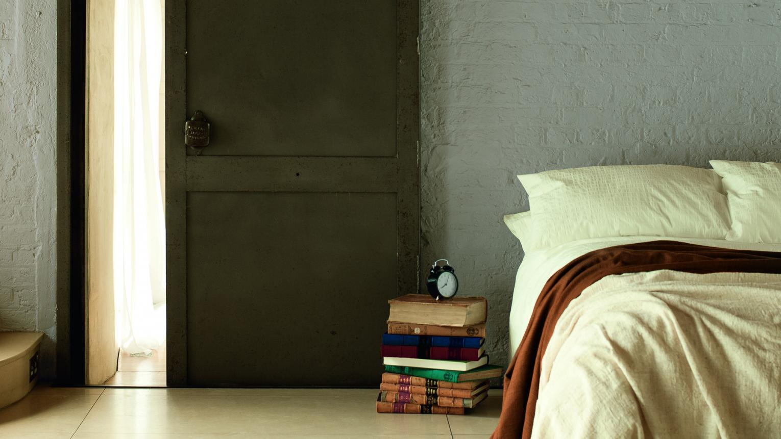 Use cool neutrals for a tranquil bedroom
