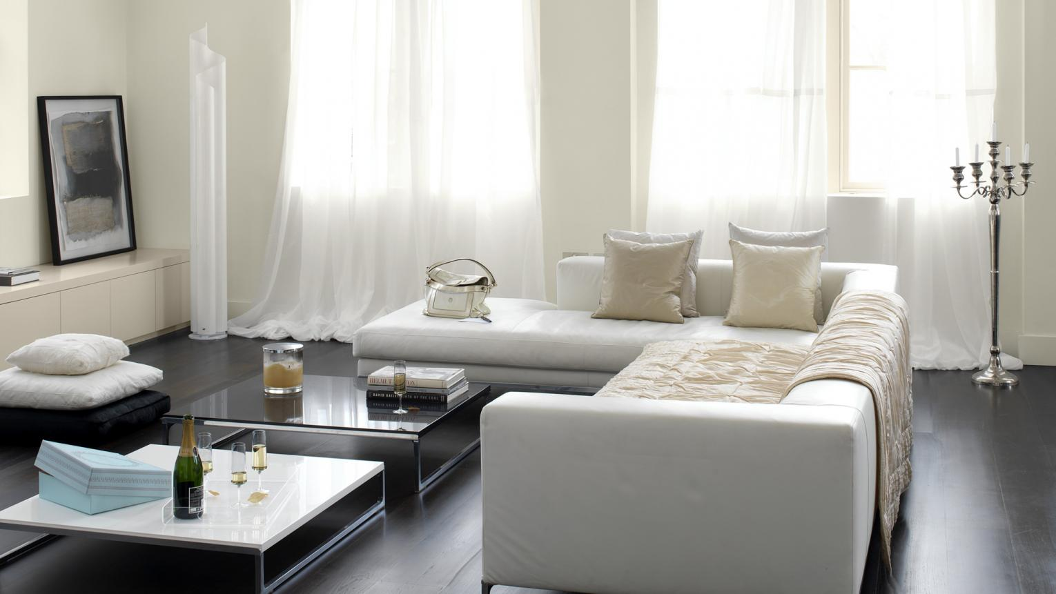 Use  subtle whites for a light-filled space