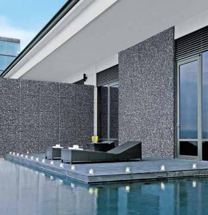 Textured finishes from Dulux Weathershield, with stone-solid protection.